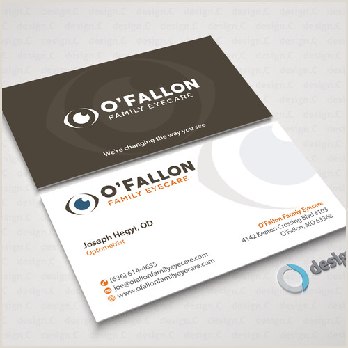 How To Make A Buisness Card Create A Bold Business Card For An Eye Doctor