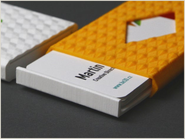 How To Make A Business Card Business Card Cases By Ysoft Be3d Thingiverse