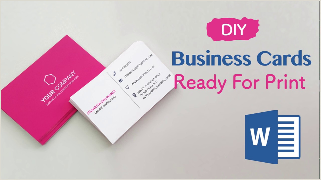 How To Make A Business Card How To Making Your Own Business Cards Using Microsoft Word