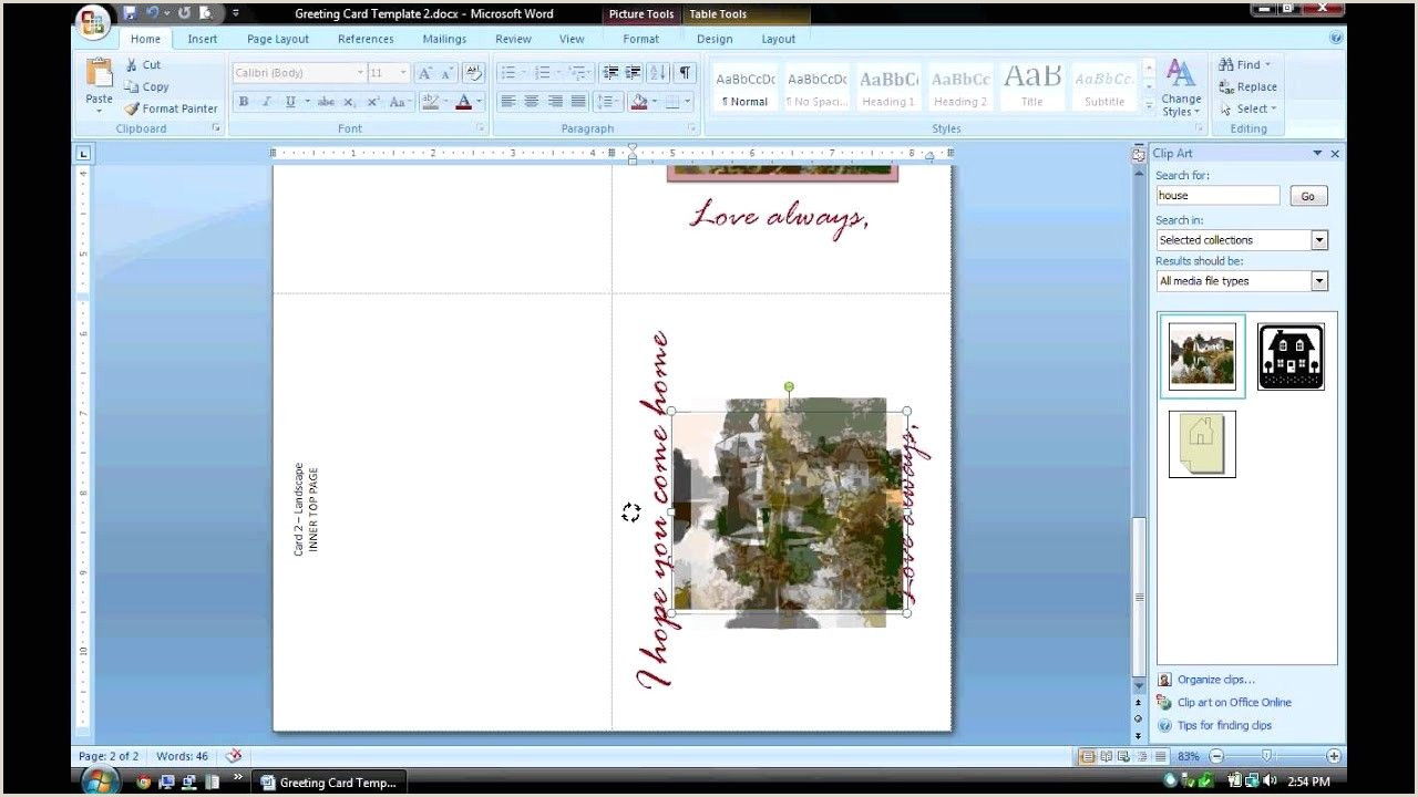 How To Make A Business Card In Word Birthday Card Template For Word Best Ms Word Tutorial