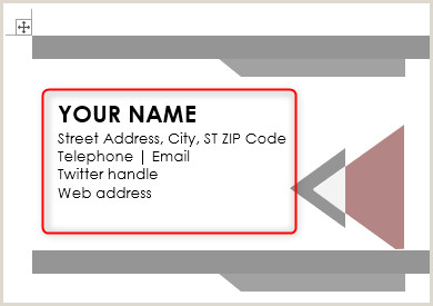 How To Make A Business Card In Word How To Design Business Cards Using Microsoft Word