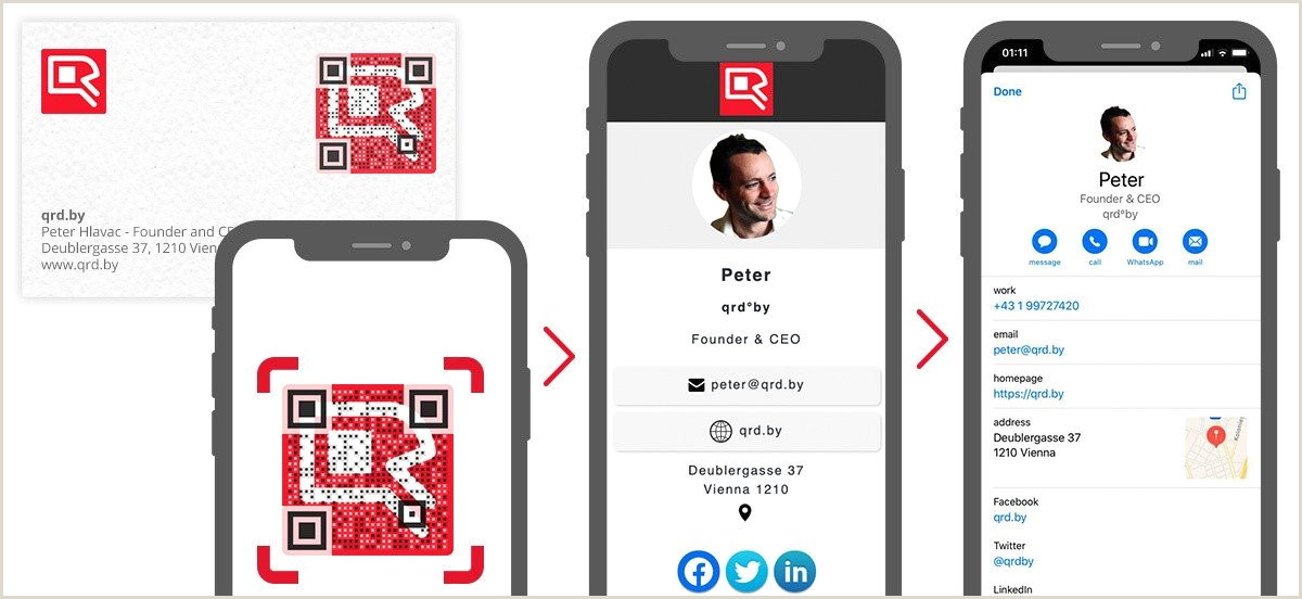 How To Make A Business Card Qr Code Business Card