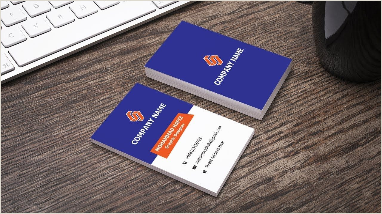 How To Make Business Cards Horizontal Business Card Design In Illustrator