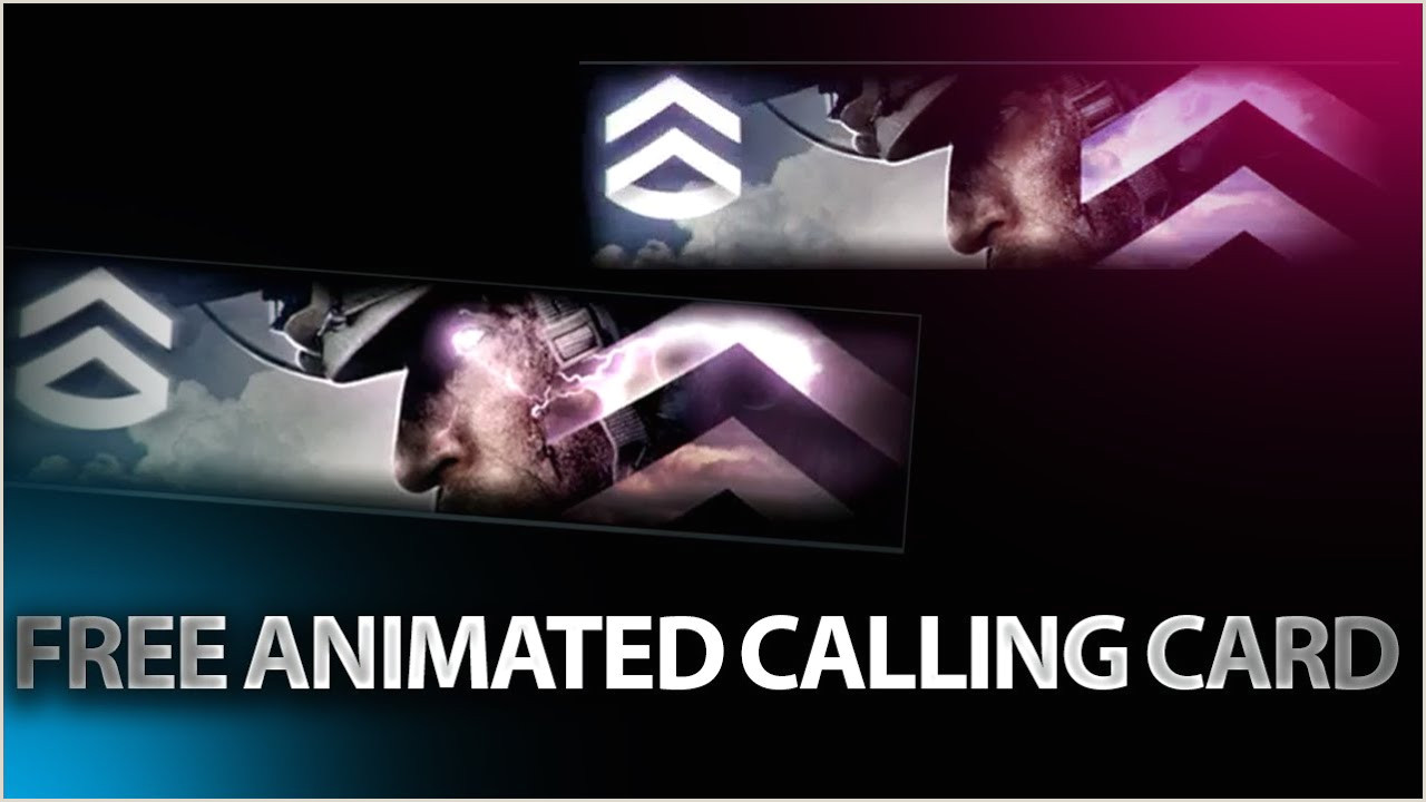 How To Make Calling Card How To Get Rare Animated Calling Card For Free Modern Warfare