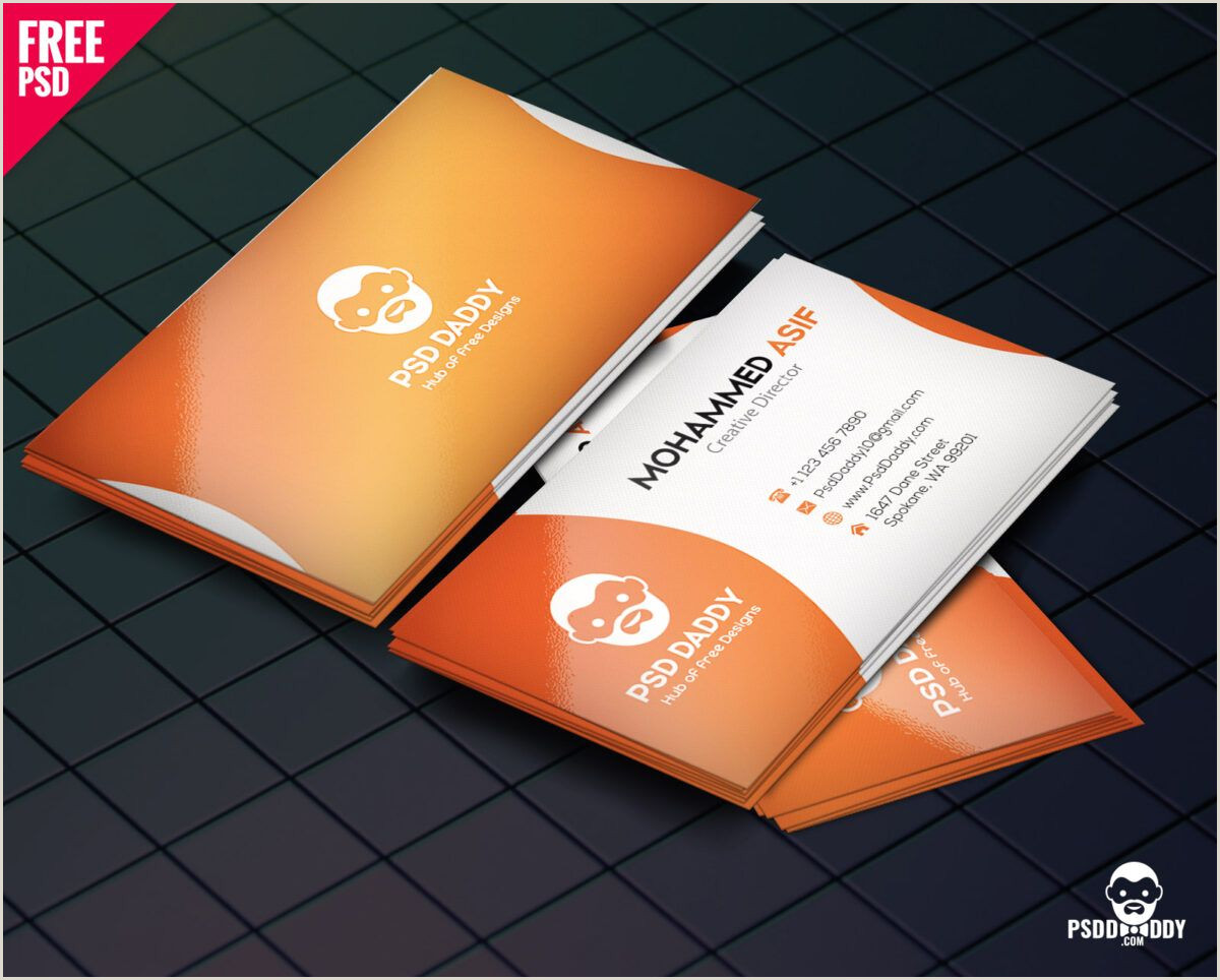 How To Make Front And Back Business Cards In Word Download] Business Card Design Psd Free