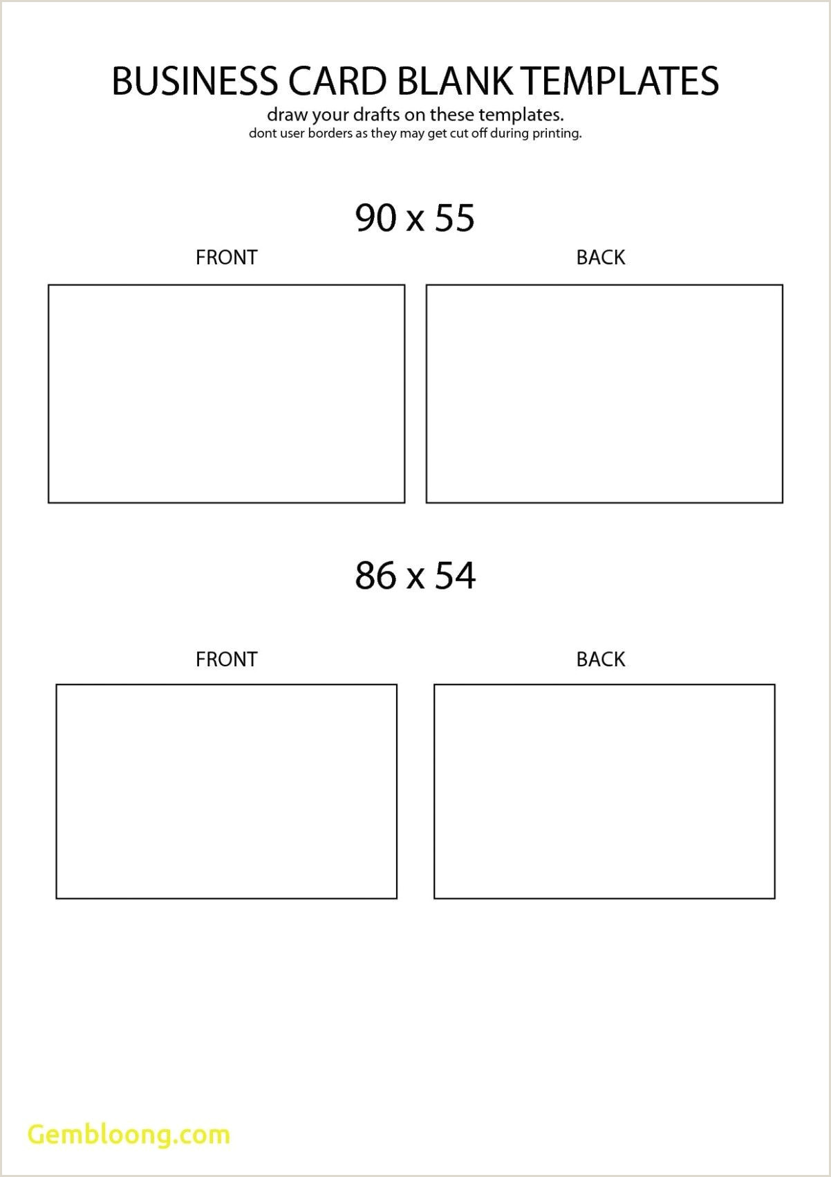 How To Make Front And Back Business Cards In Word Free Blank Business Card Template Front And Back Design