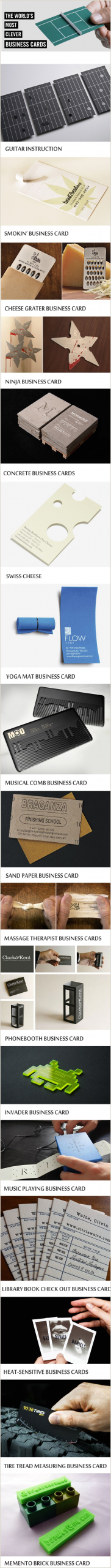 How To Make The Most Unique Business Cards These Are The World S Most Clever Business Cards