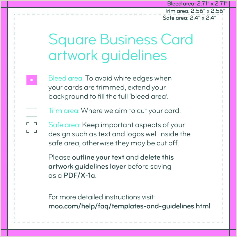 How To Upload Unique Backs To Business Cards On Moo Business Card Design Guidelines