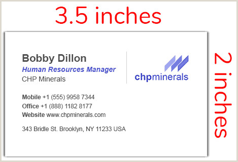 How Wide Is A Business Card Standard Business Card Sizes & Dimensions