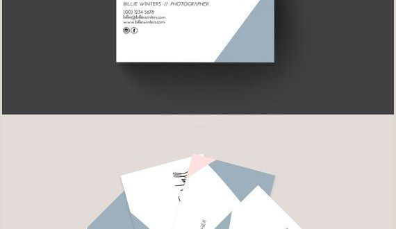Ideas for Business Card Geo Business Card Editable Template Blush Pink and Blue