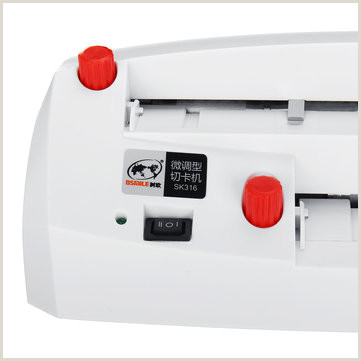 In Name Card Automatic Business Electric Card Cutter Name Card Slitter Cutter A4 Size For Home Fice