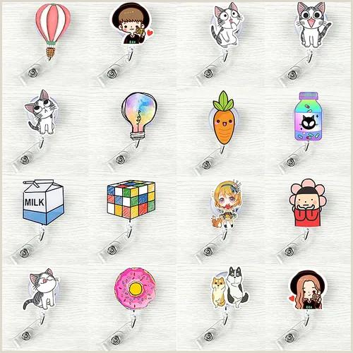 In Name Card Dog Retractable Badge Reel Student Nurse Exihibiton Id Name Card Badge Holder Vova