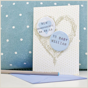In Name Card Personalised New Baby Cards