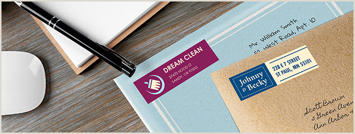 In Store Business Card Printing Address Labels