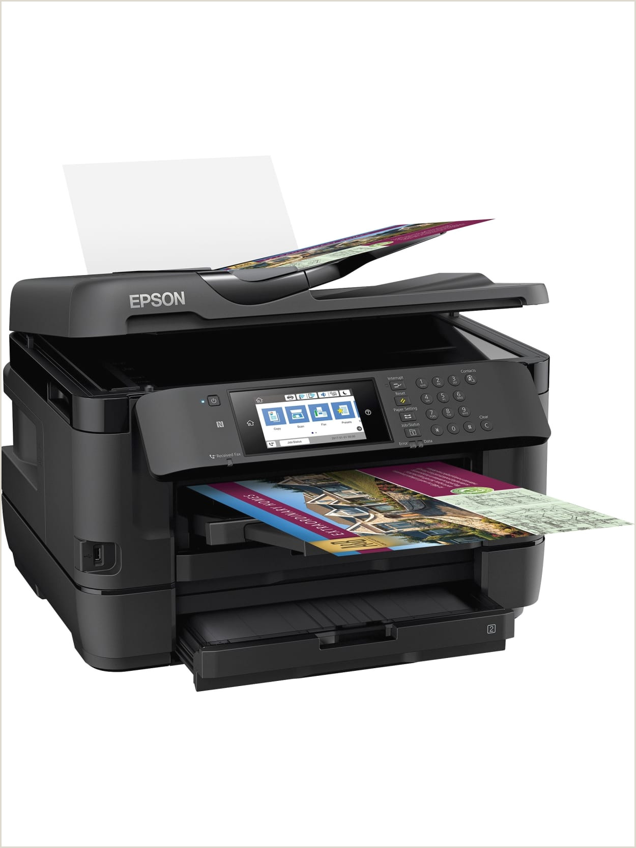 In Store Business Card Printing Epson Workforce Wf 7720 19 Wide Format Wireless Inkjet All