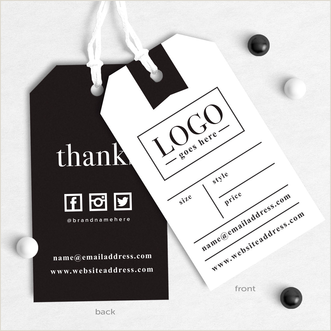 In Store Business Card Printing How To Design Your Clothing Brand Hang Tags