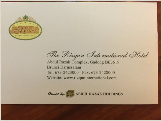 Info On Business Card Info & Business Card Picture Of The Rizqun International