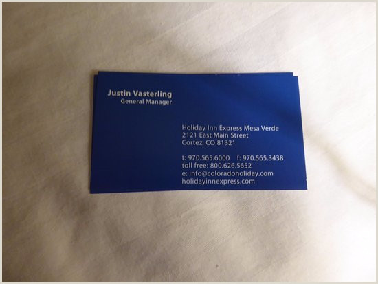 Info On Business Card Manager S Business Card Picture Of Holiday Inn Express