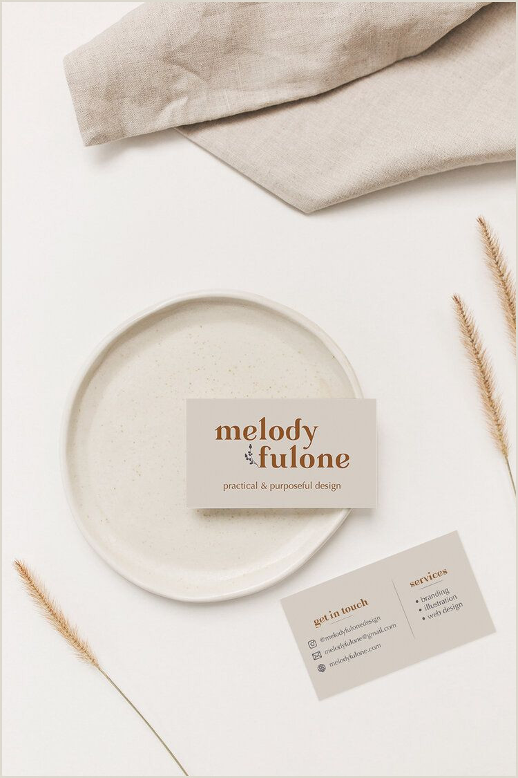 Information To Put On Business Card How To Put Your Brand Design To Work — Melody Fulone Design