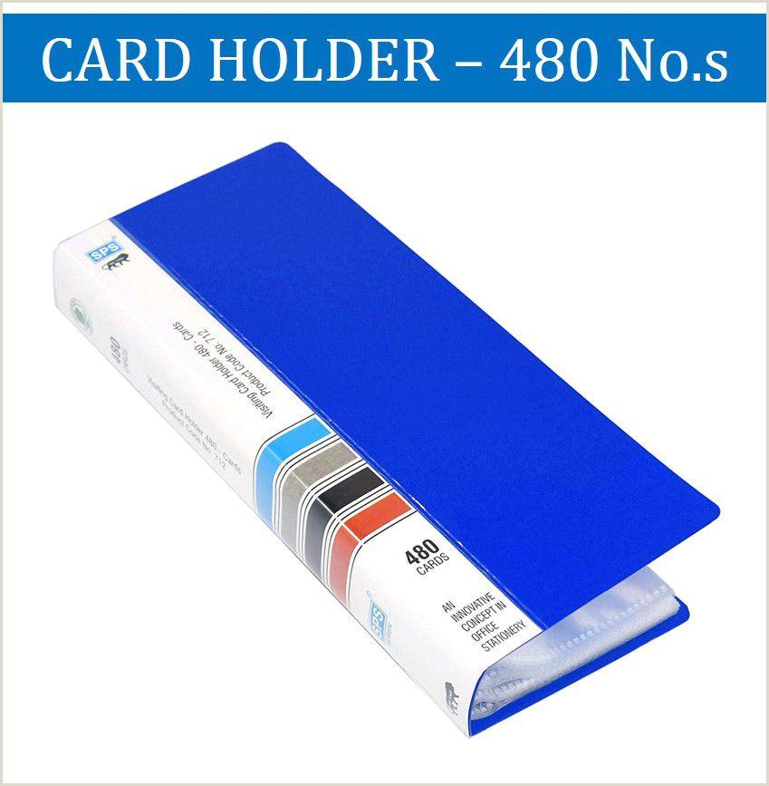 Innovative Business Card Sps Visiting Card Holder 480 Folder Blue