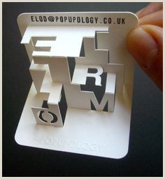 Interactive Business Cards 40 Interactive Business Cards Ideas
