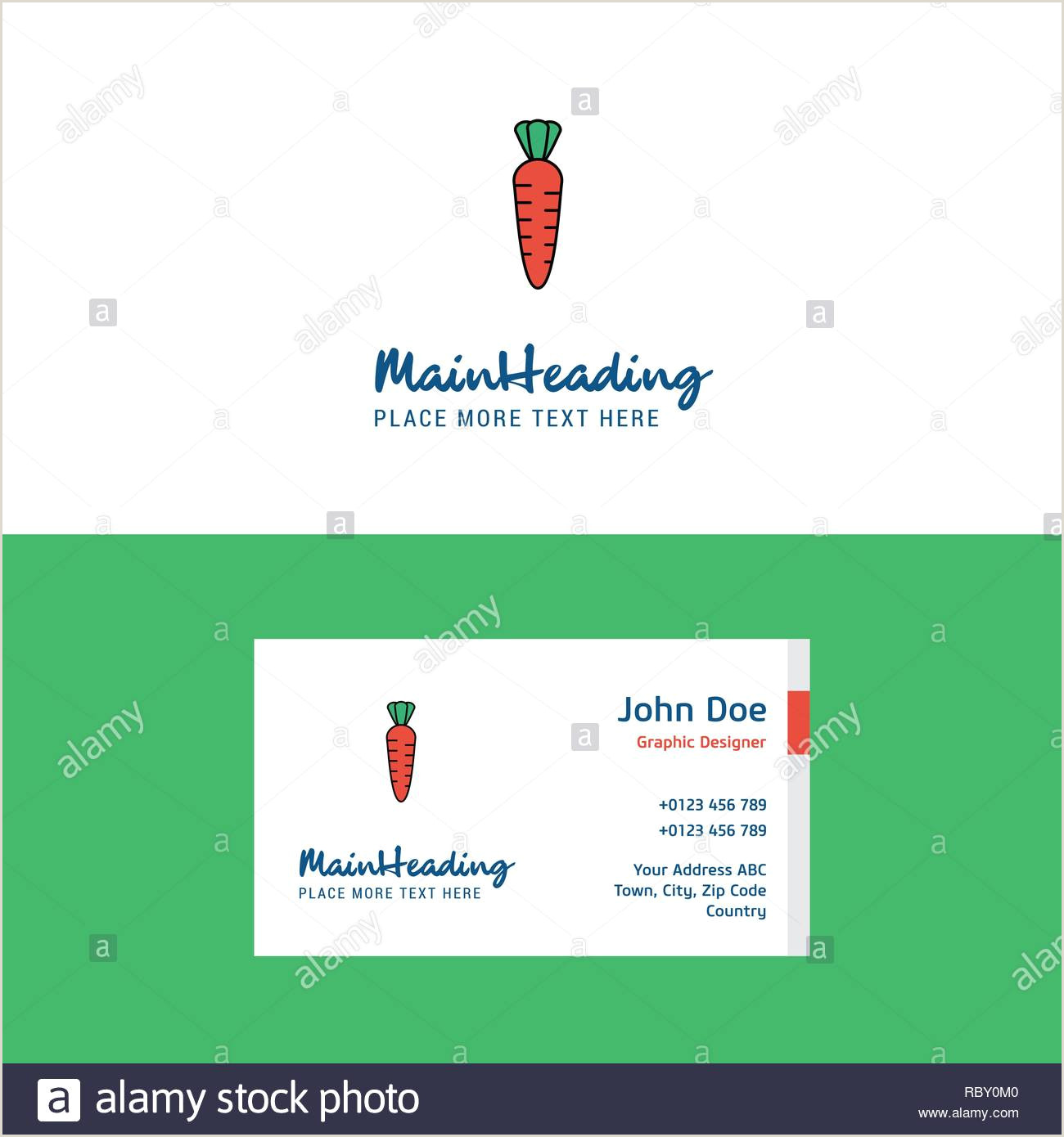Investor Carrot Best Business Cards Flat Carrot Logo And Visiting Card Template Busienss