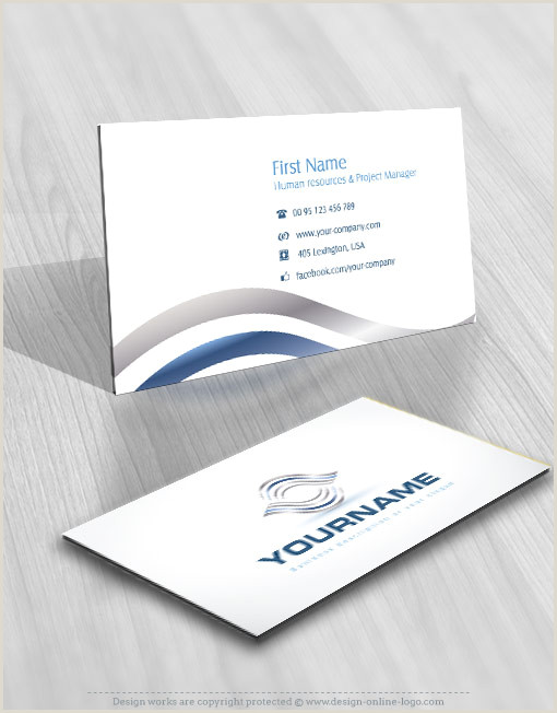 Logo Business Card Exclusive Design Abstract Waves Online Logo Free Business