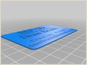 Make A Buisness Card Cosplay Things Search Thingiverse
