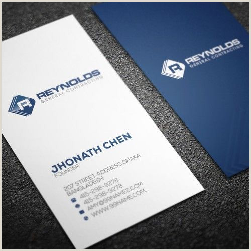 Make Buisness Card General Contracting Business Cards