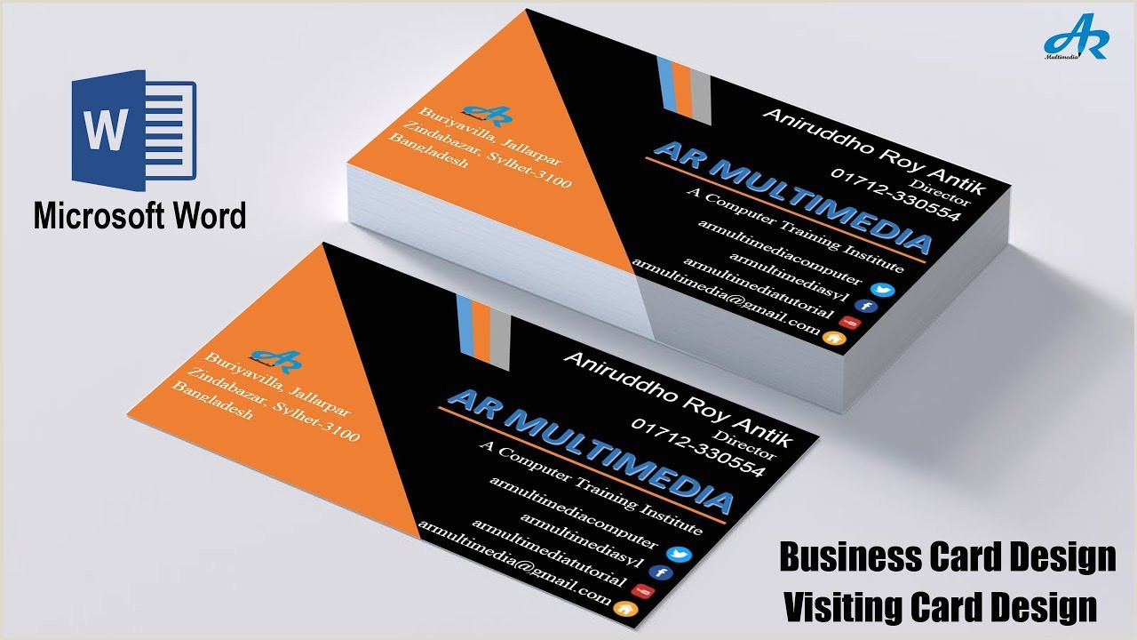 Make Business Cards On Word Ms Word Tutorial How To Create Professional Business Card Design In Ms Word Biz Card Template 2013