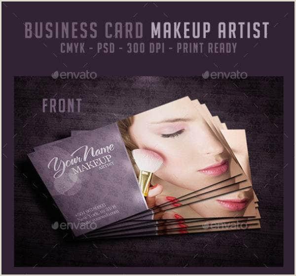Makeup Artist Business Cards Examples 10 Makeup Artist Business Card Templates Illustrator