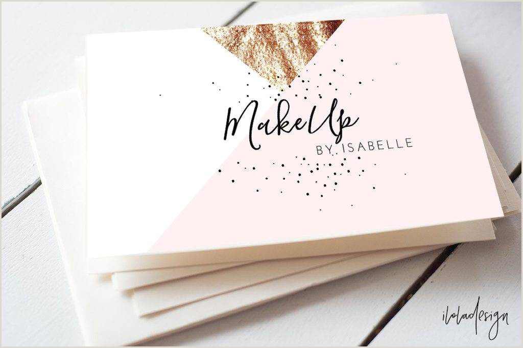 Makeup Artist Business Cards Examples Free 27 Makeup Artist Business Card Designs & Examples In