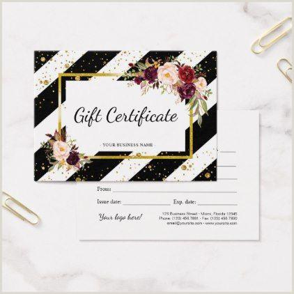 Makeup Business Card Ideas Elegant Floral Salon Makeup Artist Gift Cards
