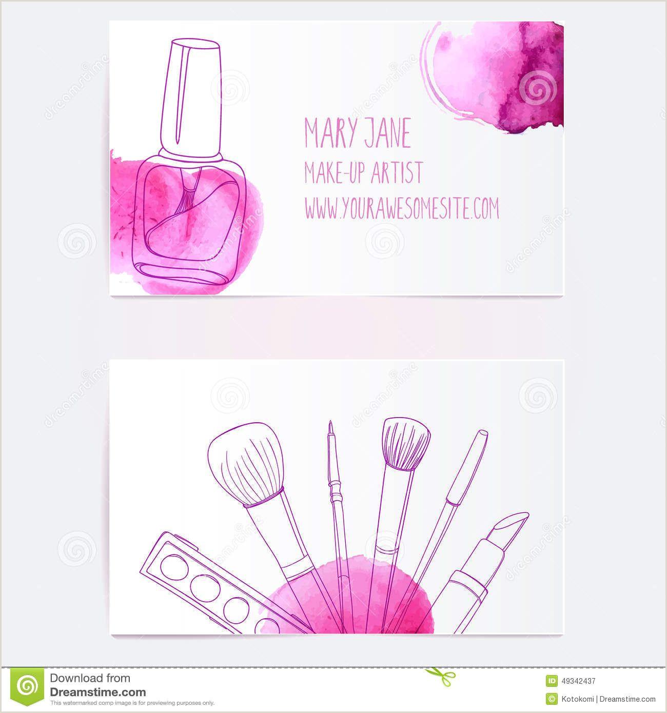 Makeup Business Card Ideas Make Up Artist Business Card Template