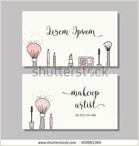 Makeup Business Card Ideas Makeup Artist Business Card Vector Template With Makeup