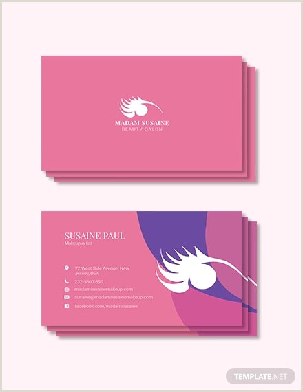 Makeup Business Cards Examples 15 Makeup Artist Business Cards In Psd Vector Eps Ai