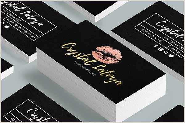 Makeup Business Cards Examples 40 Makeup Artist Business Card Templates Free Psd Designs