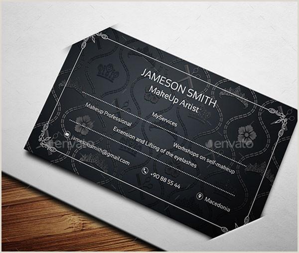 Makeup Business Cards Examples 54 Makeup Artist Business Cards Free & Premium Psd Ai