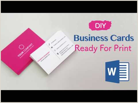 Making Business Card In Word How To Create Your Business Cards In Word Professional And