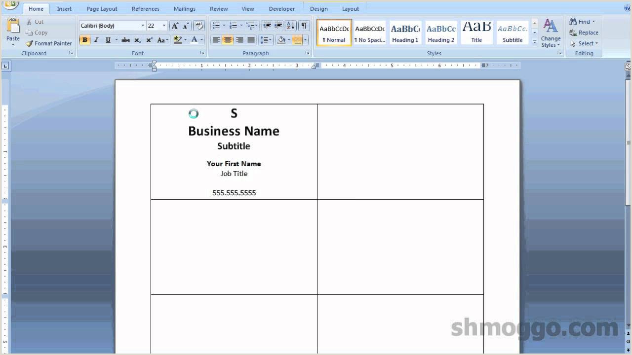Making Business Card In Word Printing Business Cards In Word