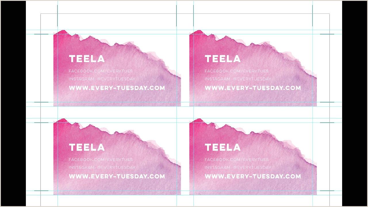 Making Business Cards In Illustrator Bulk Print Diy Business Cards Using Illustrator