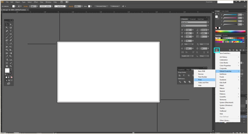 Making Business Cards In Illustrator How To Design A Business Card In Adobe Illustrator