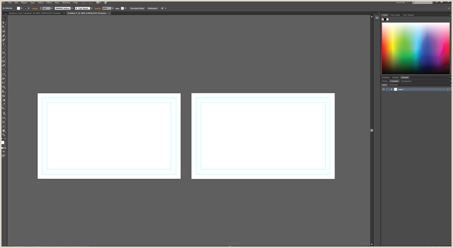Making Business Cards In Illustrator How To Make A Business Card Template With Bleeds In Adobe
