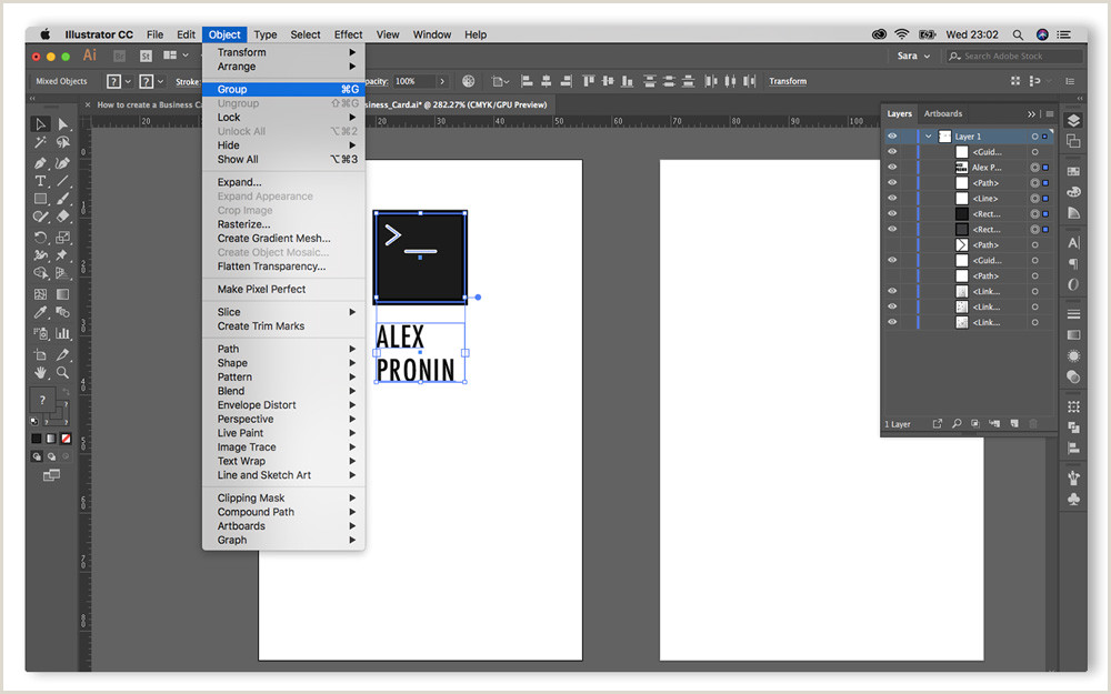 Making Business Cards In Illustrator Step By Step Guide On How To Create A Business Card In Adobe