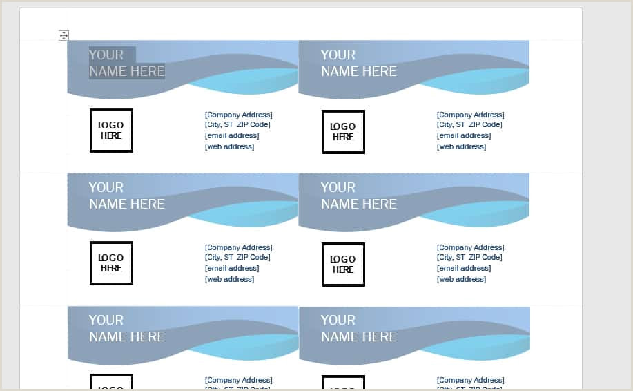 Making Business Cards In Word A Simple 7 Step Tutorial How To Make Business Card In Word