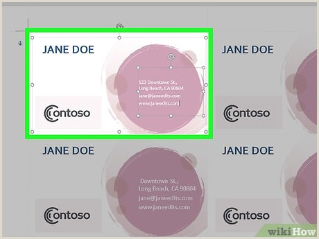 Making Business Cards With Word How To Make Business Cards In Microsoft Word With