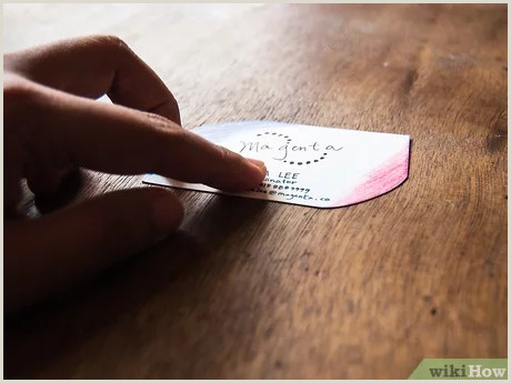 Making Your Own Business Card 3 Ways To Make A Business Card Wikihow