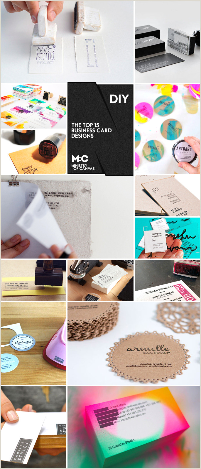 Making Your Own Business Card 6 Super Easy Ways To Create Handmade Diy Business Cards