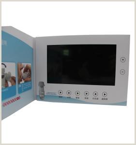 Manufacturer Business Cards A5 Matt Cover Lcd Brochure Card 4 3 Inch Promo Video