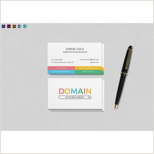 Marketing Best Business Cards 10 Digital Marketing Business Cards Illustrator Indesign